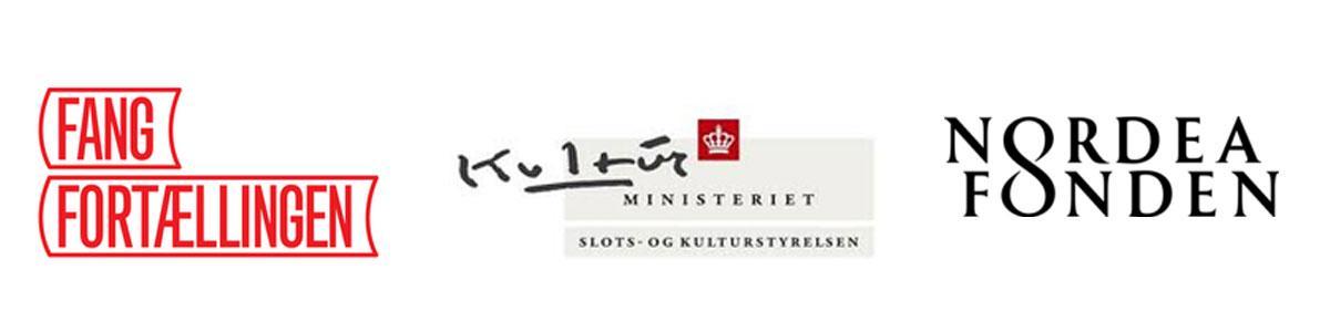 Logoer for Fang fortællingen, Kulturstyrelsen og Nordea-fonden