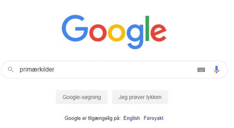 Søgning på primærkilder i Google