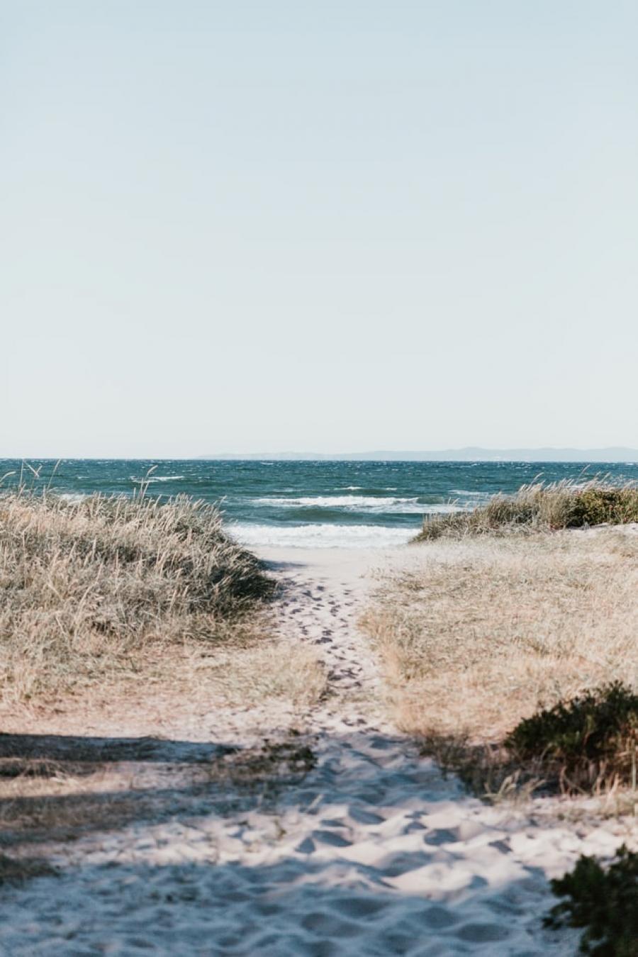 En strand et sted i Danmark.