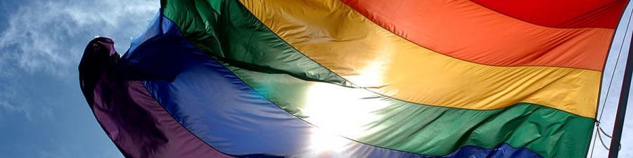 Regnbueflaget er et symbol for Copenhagen Pride.