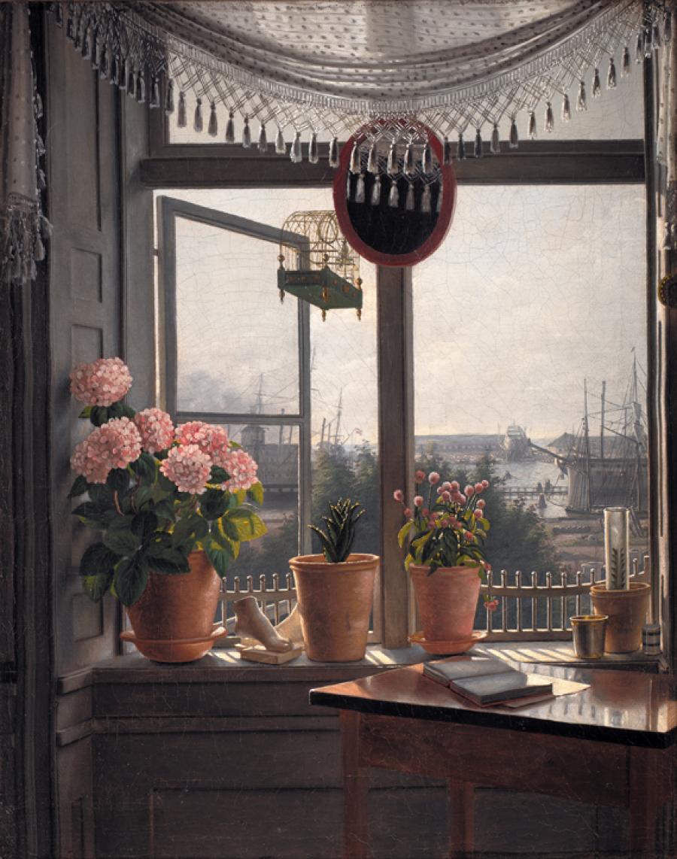 'Udsigt fra kunstnerens vindue', Rørbye, Martinus, ca. 1825, Statens Museum for Kunst. Foto: SMK Foto